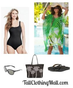 tall swimsuit coverup and outfit