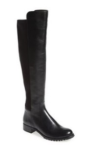 womens stretch back black boots