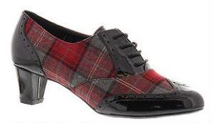 plaid lace up shoes
