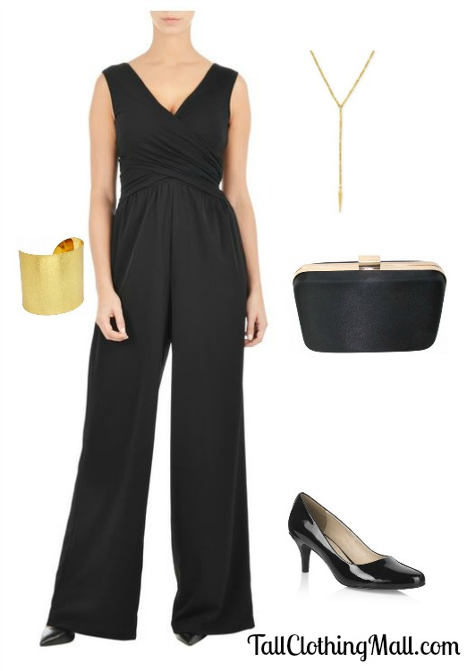 black jumpsuit tall