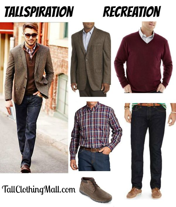 big and tall tweed blazer and outfit