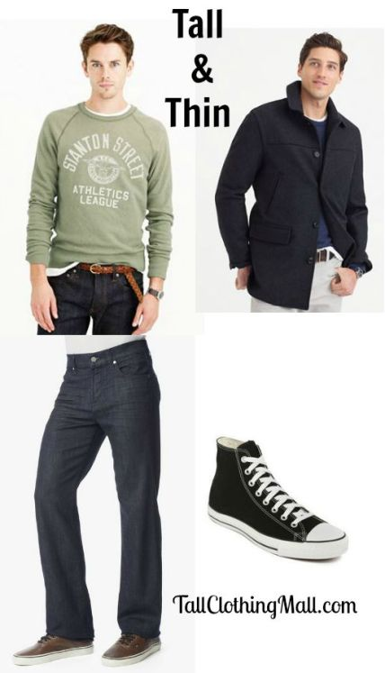 outfit for tall and thin guys