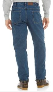 mens flannel lined jeans tall