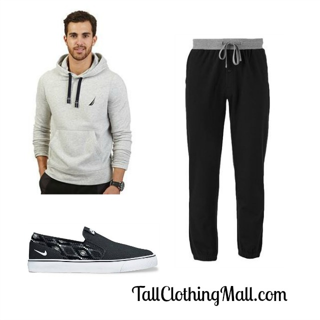 nautica tall hoodie and outfit