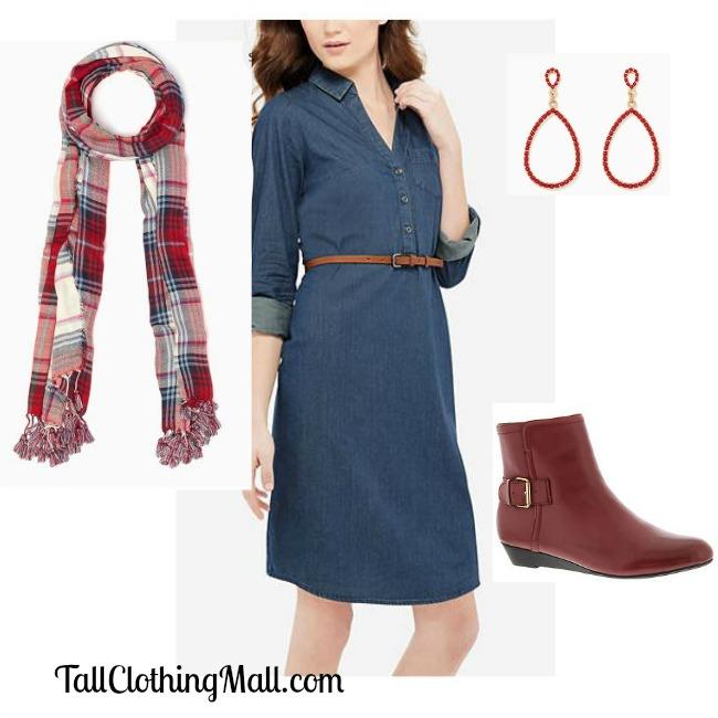 tall chambray dress