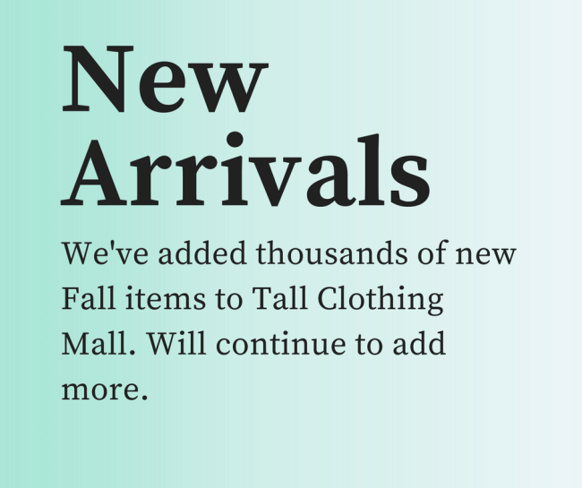 new arrivals tall clothing mall
