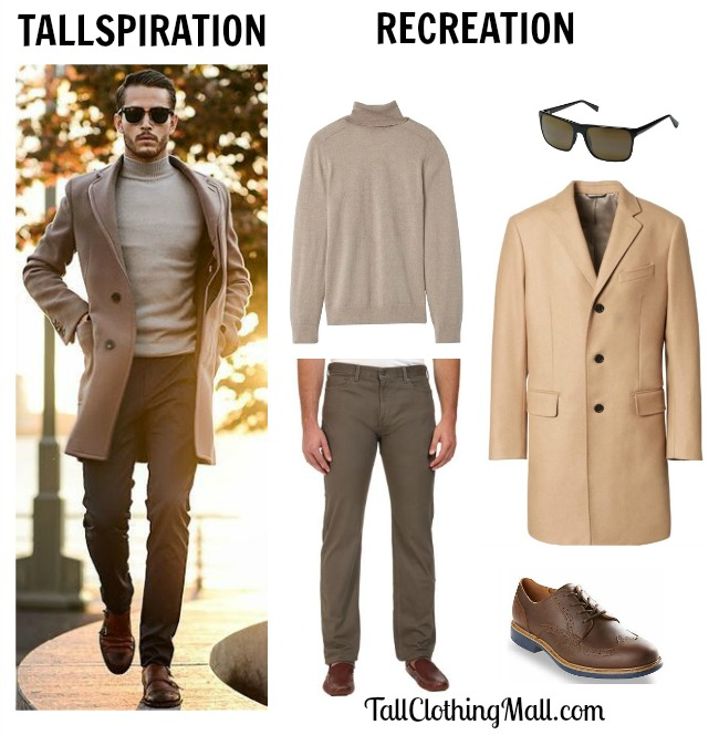 tallspiration - men's tall outfit in brown colors