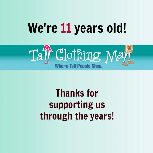 tall clothing mall turns 11
