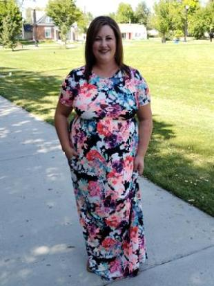 floral tall and plus size maxi dress