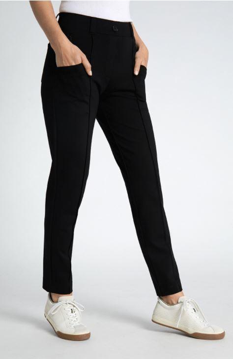 women's tall black travel pants