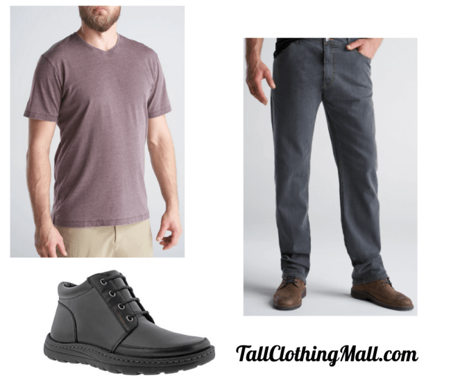 basic men's tall outfit