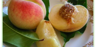 Charlotte White Peach in a bowl