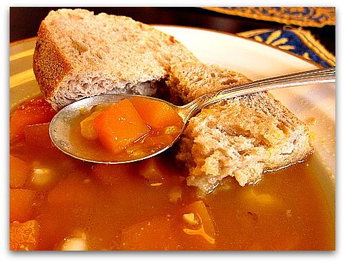 pumpkin hominy soup
