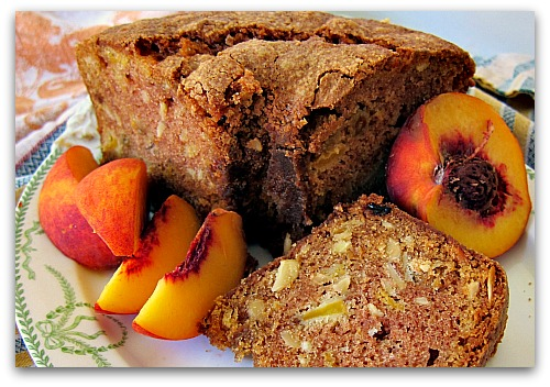 sliced peaches peach cake recipe