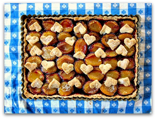 plum tart recipe hearts