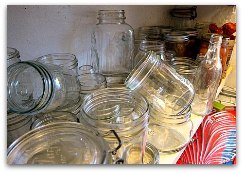 canning jars a jumble