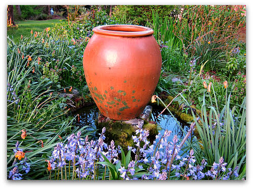 garden vessel as fountain