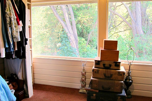 Sleeping porch as closet: a restful place for things I don't need.