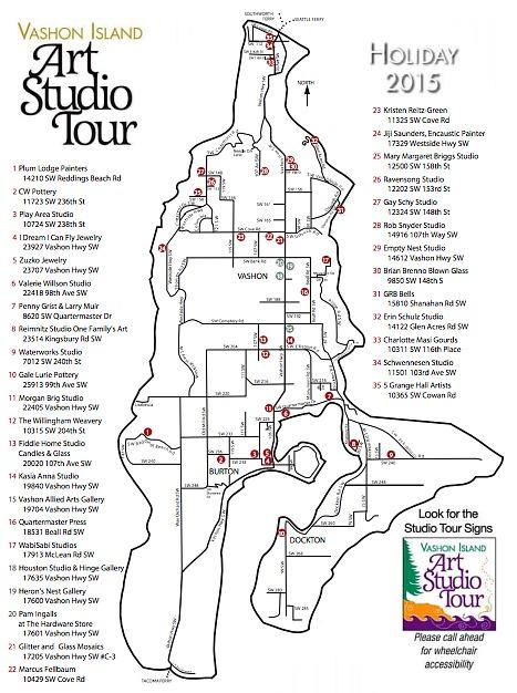 Vashon Island Art Studio Tour Map