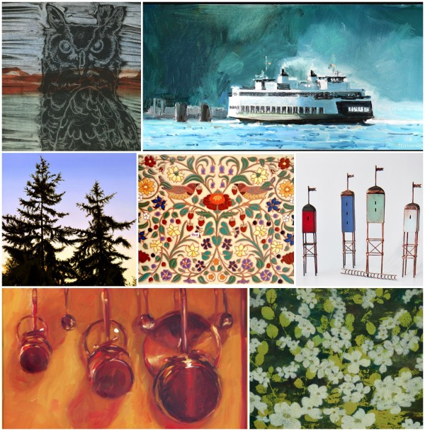 vashon island art studio tour collage