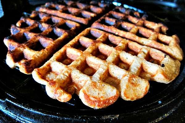 apple sesame whole wheat waffle