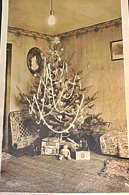 vintage christmas tree farmhouse