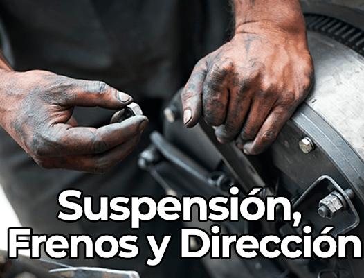 Suspensión, frenos y dirección