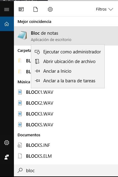 Abrir el editor como administrador del sistema