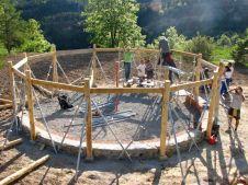 Banqueta y Estructura de madera