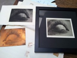 Heliogravure: Copper plate and 2 prints