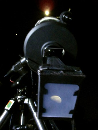 Becquerel Daguerreotype of the moon: Massimo Cova+Simone Choulle