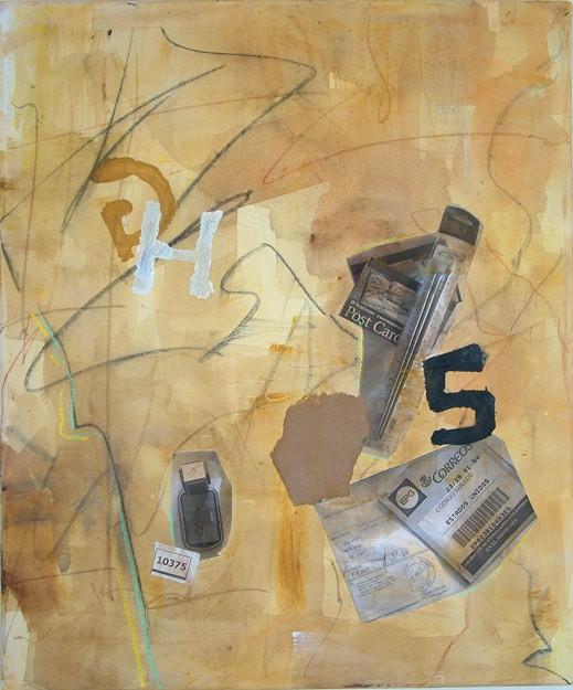 Ejercicio de pintura abstracta en técnica mixta en 4 Pintors, Barcelona