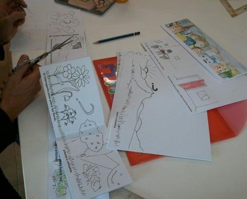 Procés de realització d'un conte per a nens. 4 Pintors
