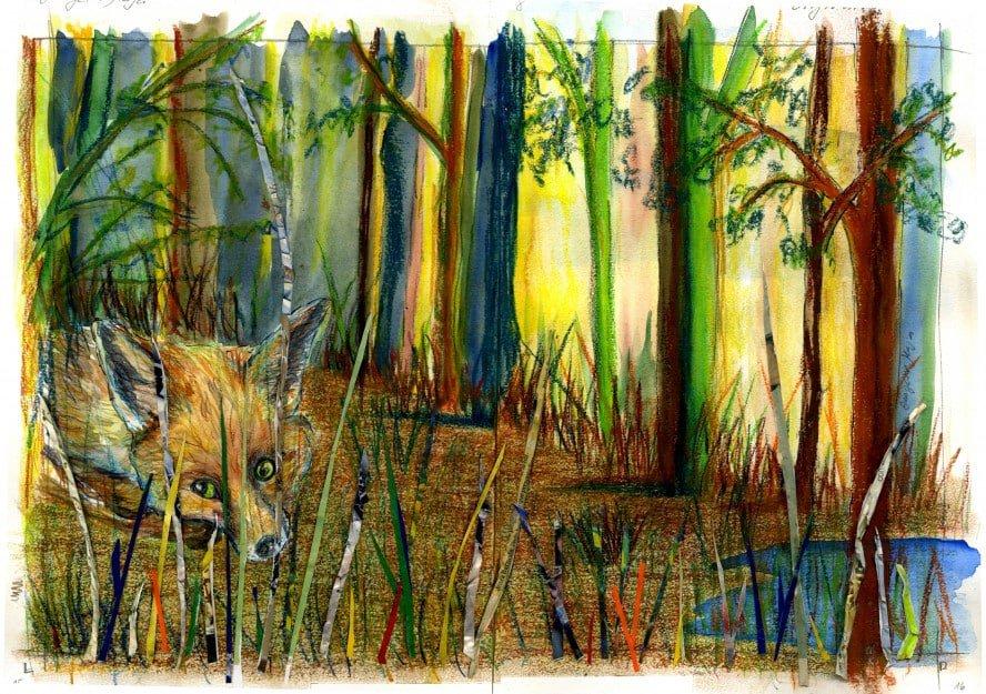 Trabajo original de alumno del taller de ilustración. 4 Pintors, Barcelona