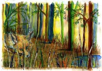 Curso de ilustración. Trabajo de alumno del taller de ilustración, Barcelona 4 Pintors