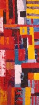 Construcción abstracta al óleo. Academia pintores Barcelona