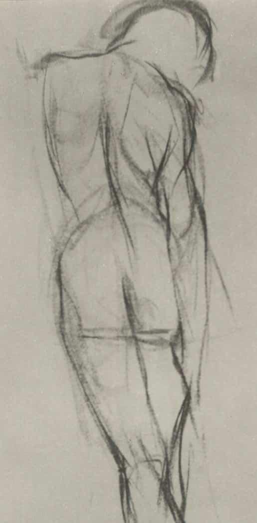 Exercicis de dibuix amb model a l'acadèmia 4 Pintors