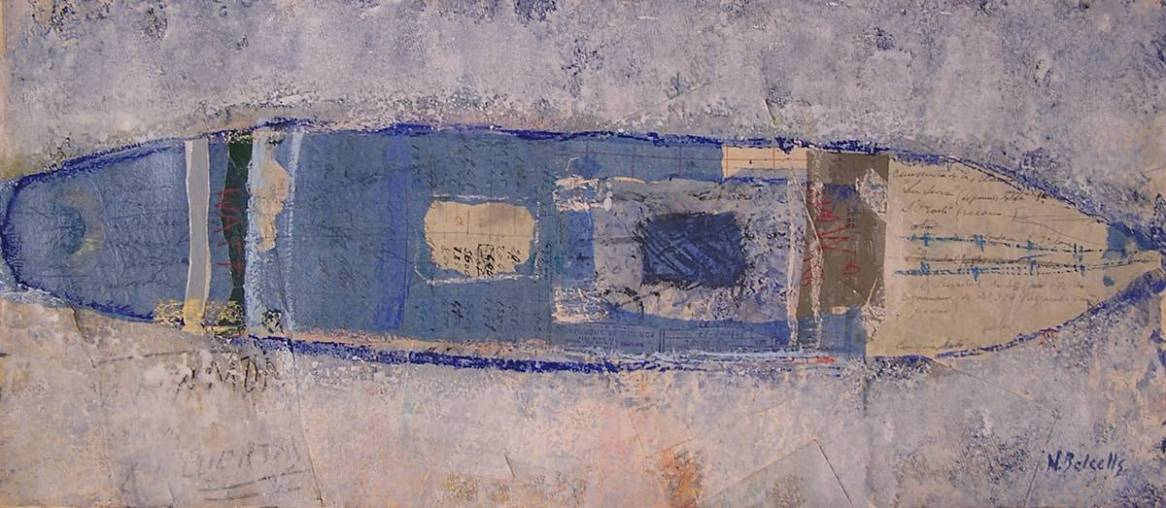 WATT. Obra en técnica mixta sobre papel de Nuria Balcells. TALLER DE 4 PINTORS, clases en Barcelona