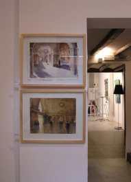 Acuarelas alumno del Taller en la expo Clases de Pintura y Dibujo en Barcelona