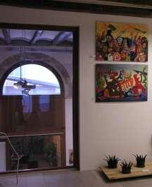 Obras expuestas en la Galería Mezanina. Clases de Dibujo y Pintura en Barcelona
