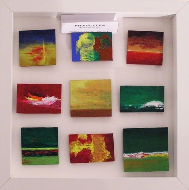 Pequeñas pinturas abstractas. Clases de Arte en Barcelona