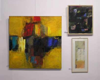 Cuadros abstractos en Galería Mezanina. Cursos de Pintura y Dibujo en Barcelona