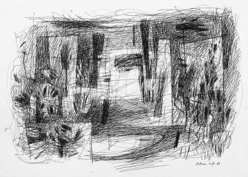 3. PAISATGE. Apunt. 29,7x42 cm. Escola dibuix a Barcelona