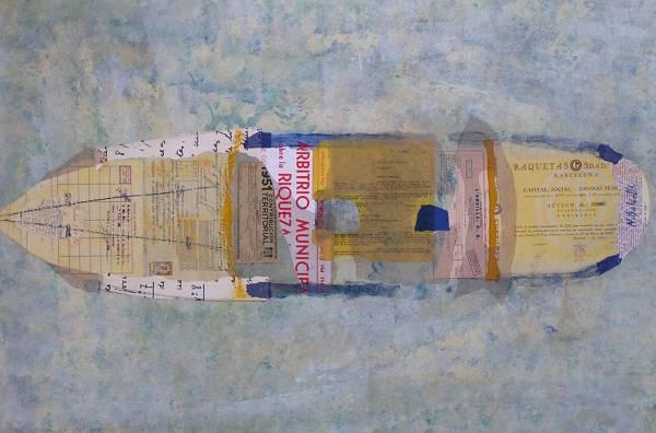 1. L'ABEILLE. Tècnica mixta sobre fusta. Classes pintura Barcelona