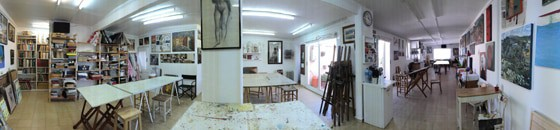 Panoramic view of the classroom. Taller de 4 Pintors, Barcelona