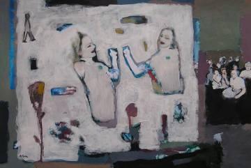 SIRENES.Acrílic sobre foto. Classes pintura Barcelona