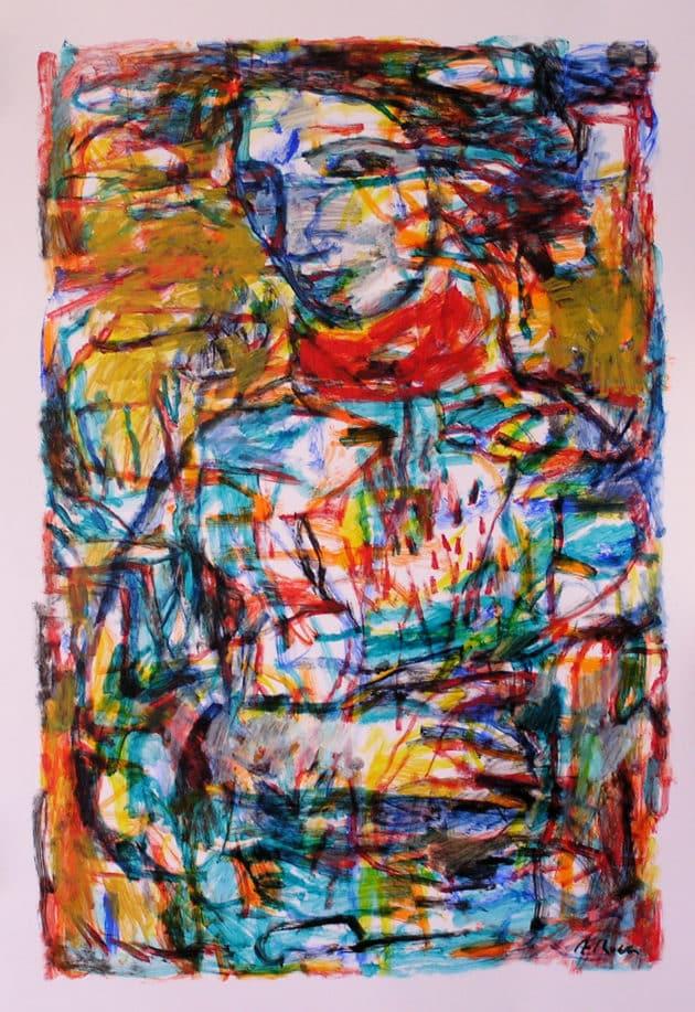 Quadre d'Agustí Roca, professor de l'escola 4 Pintors