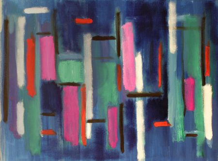 Abstracció. Creació a l'oli sobre paper
