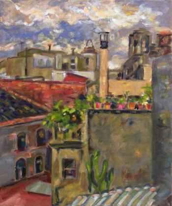 Pintura a l'oli sobre tela. Barcelona