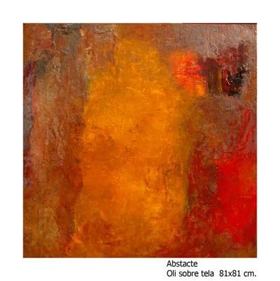Oli abstracte sobre tela. Classes a l'escola d'art